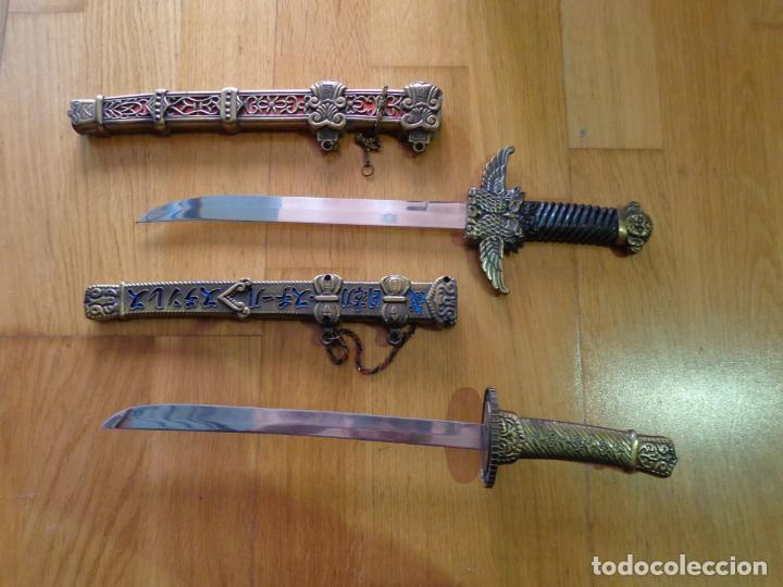 ¡¡¡ LOTE DE 2 DAGAS MINI KATANA CHINAS !!! (Militar - Armas Blancas, Reproducciones y Piezas Decorativas)