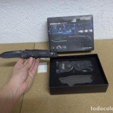 Militaria: NAVAJA CUCHILLO WALTHER RESCUE KNIFE, ORIGINAL, NUEVA Y CON SU CAJA Y FUNDA.. Lote 236462395