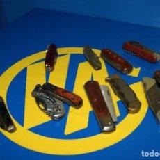 Militaria: LOTE 11 NAVAJAS BUEN ESTADO -DECORATIVAS-BUEN ESTADO-TODOS LOS TAMAÑOS. Lote 239490275