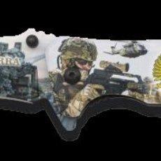 Militaria: NAVAJA TACTICA EN 3D DEL EJERCITO DE TIERRA. Lote 239931550