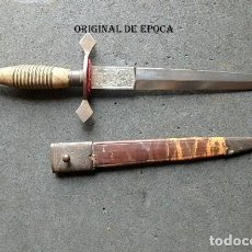 Militaria: (XJ-210102)PUÑAL,DAGA,REALIZADA EN TOLEDO,MANGO DE MADERA CON ALAMBRE.. Lote 242018095