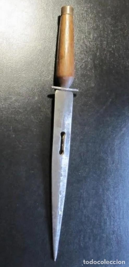 DAGA ESPAÑOLA CUCHILLO ALCAZAR PUÑAL ESPAÑOL SIGLO XIX ENVIO GRATIS POR AGENCIA (Militar - Armas Blancas Originales Fabricadas entre 1851 y 1945)