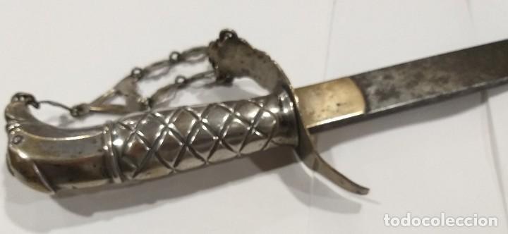 ESPADA SABLE CON EMPUÑADURA DE PLATA S XIX VALDES Y M (Militar - Armas Blancas Originales de Fabricación Anterior a 1850)