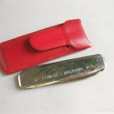 Militaria: NAVAJA LA BOURBOULE 1955 - X CONGRES NATIONAL P.G. - CON SU FUNDA. Lote 244608630
