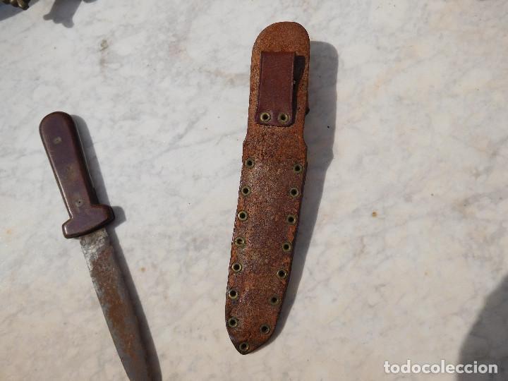 Militaria: Cuchillo antiguo con funda - Foto 4 - 254404825