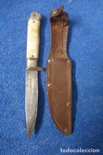 Militaria: Raro cuchillo, tipo Nicker,,,caza, Alemania,,Solingen,,,posible Segunda Guerra Mundial...Curioso.. - Foto 2 - 255015175
