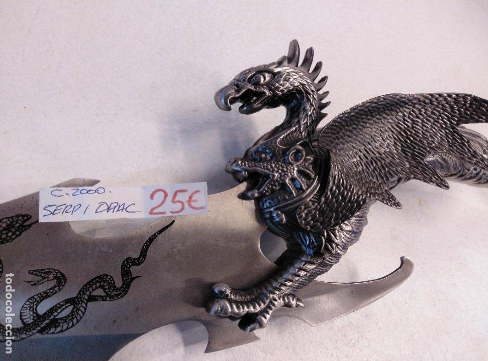 Militaria: Gran cuchillo fantasía. Acero. - Foto 2 - 255346015