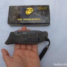 Militaria: * NAVAJA TACTICA MILITAR DE MARINES AMERICANO USMC, ORIGINAL. ZX. Lote 261124695