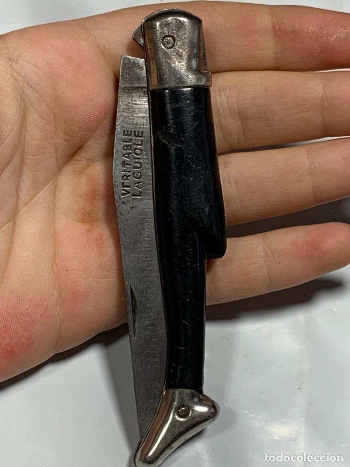 NAVAJA MARCA LAGUIOLE FRANCIA CACHAS BOTA HOJA MARCADA MITAD S XX 10X2,5CMS (Militar - Armas Blancas Originales de Fabricación Posterior a 1945)