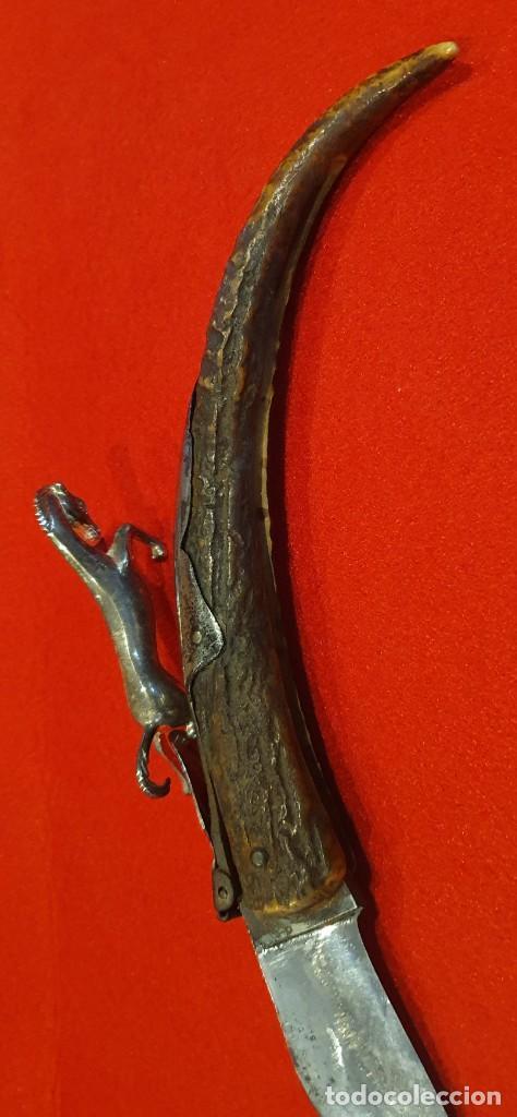 Militaria: Antigua navaja francesa de asta de ciervo - Foto 8 - 267827569