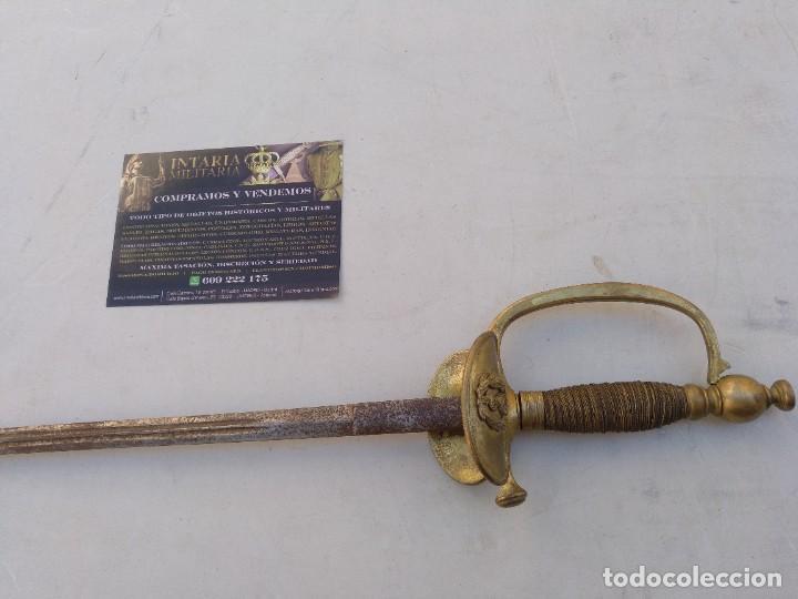 ESPADÍN DE CEÑIR FRANCESA (Militar - Armas Blancas Originales Fabricadas entre 1851 y 1945)