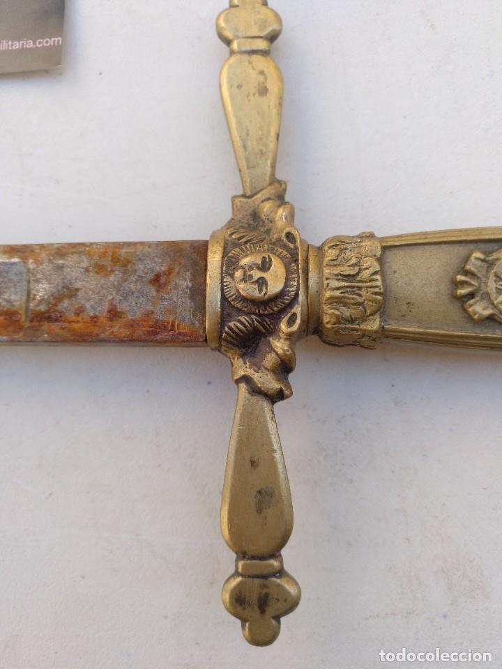 Militaria: Espadín de Alfonso XIII monárquico de cargó político - Foto 2 - 267897939