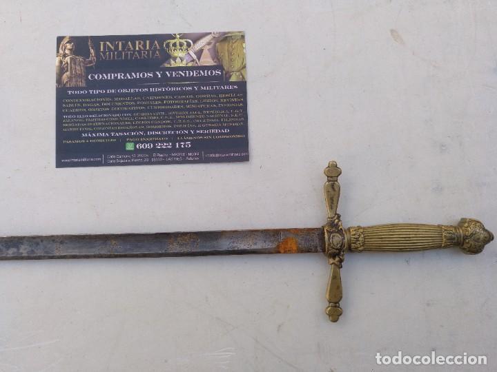 Militaria: Espadín de Alfonso XIII monárquico de cargó político - Foto 4 - 267897939