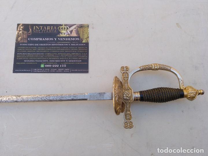 ESPADÍN PERUANO DE OFICIAL GUARDIA CIVIL (Militar - Armas Blancas Originales Fabricadas entre 1851 y 1945)