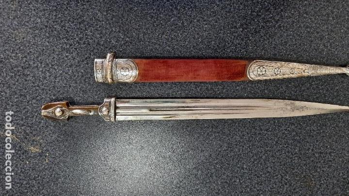 DAGA CUCHILLO COSACO RUSO,SIGLO XIX,MANGO DE PLATA KINDJAL (Militar - Armas Blancas Originales Fabricadas entre 1851 y 1945)
