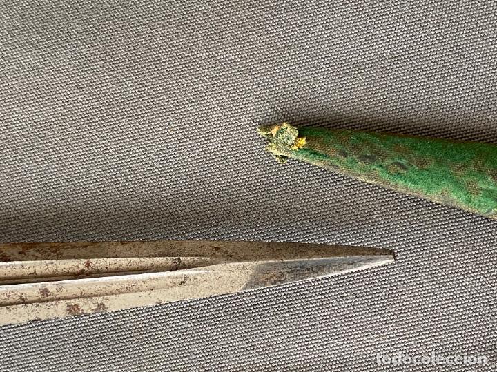 Militaria: DAGA ROMÁNTICA , TOLEDO 1860 APROX. DOBLE HOJA , EL CID . ORIGINAL DE ÉPOCA - Foto 8 - 268976834