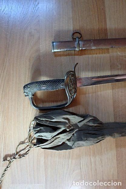 Militaria: (JX-210636)Sable espada Puerto Seguro,mod.1943 para Oficial Ejercito Español,Fabrica de Toledo. - Foto 2 - 269934423