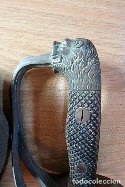 Militaria: (JX-210636)Sable espada Puerto Seguro,mod.1943 para Oficial Ejercito Español,Fabrica de Toledo. - Foto 6 - 269934423