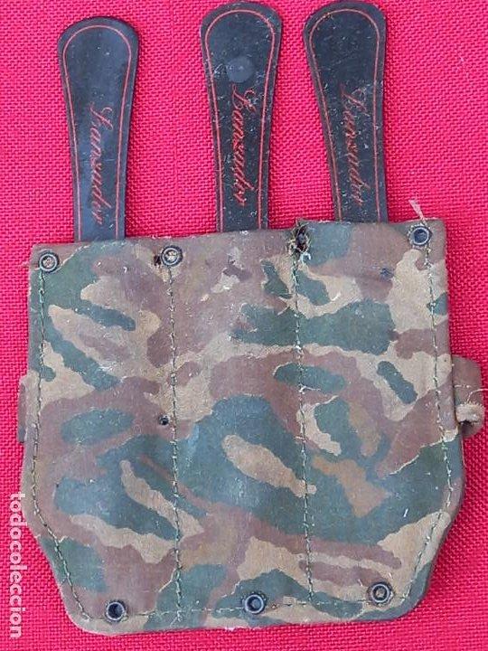 CUCHILLOS LANZADORES CON SU FUNDA BRAZALETE. (Militar - Armas Blancas, Reproducciones y Piezas Decorativas)