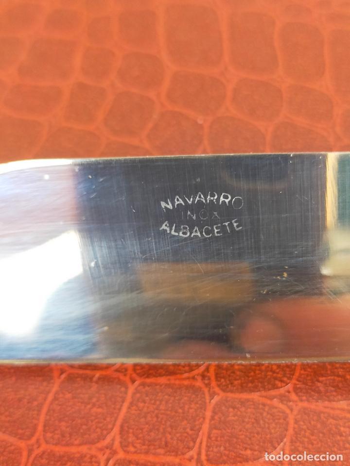 Militaria: PUÑAL CON FUNDA NAVARRO INOX ALBACETE - Foto 5 - 275743618