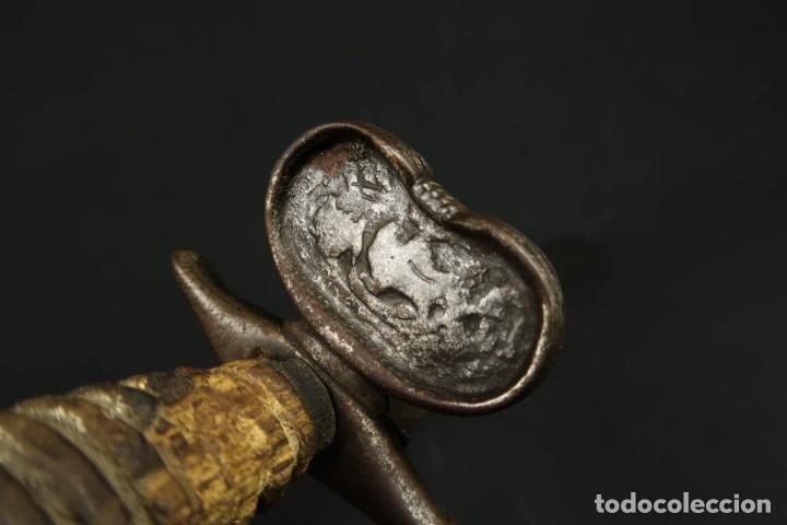 Militaria: Antigua Daga de Mano Izquierda Siglo XVIII - Foto 19 - 277746643