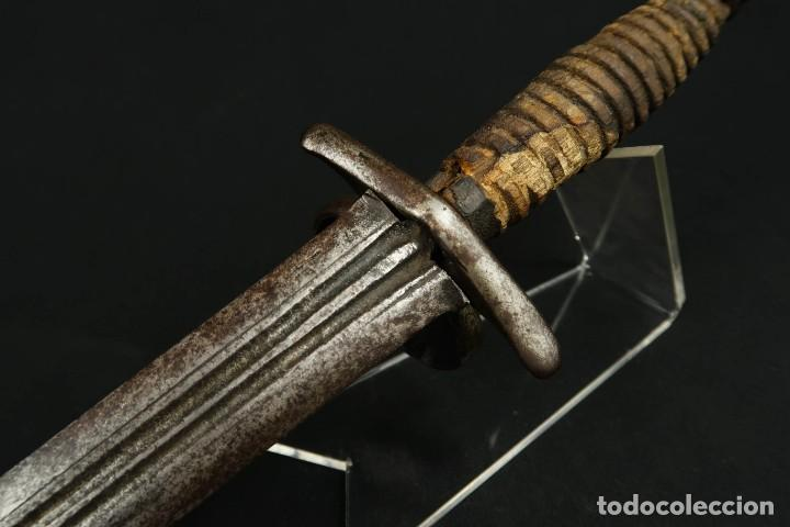 Militaria: Antigua Daga de Mano Izquierda Siglo XVIII - Foto 24 - 277746643