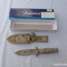Militaria: * CUCHILLO DE COMBATE TACTICO WAPPAR RIVER DE ALBAINOX, CAMUFLAJE DESERT. ORIGINAL. ZX. Lote 280464593
