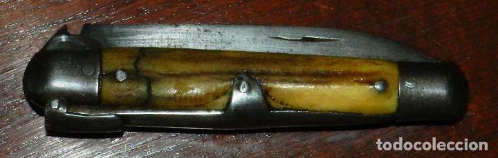 Militaria: Antigua navaja realizado en TOLEDO, tema taurino, años 40 - 50. mide 15,5 cms. abierta. - Foto 7 - 287219013