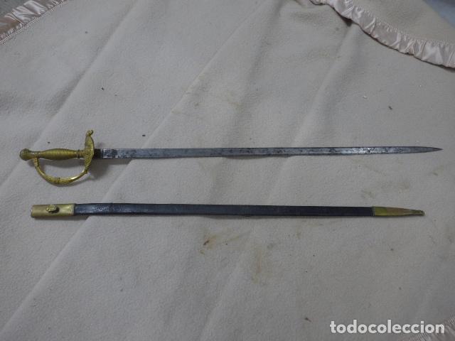 Militaria: Antigua espada de ceñir de oficial de infanteria, modelo 1867, hoja 1881, con su funda original. - Foto 2 - 293675793