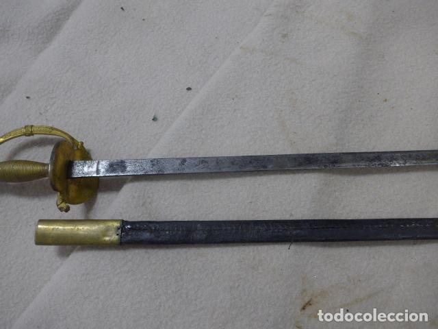 Militaria: Antigua espada de ceñir de oficial de infanteria, modelo 1867, hoja 1881, con su funda original. - Foto 19 - 293675793