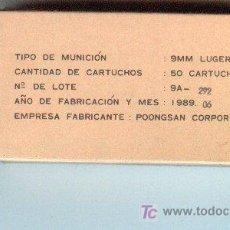 Militaria: CAJA VACIA DE 50 CARTUCHOS DEL 9 P .. Lote 3383104