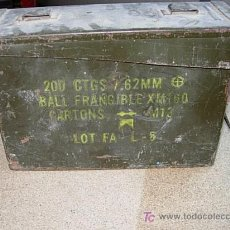 Militaria: CAJA MUNICION. Lote 7919693