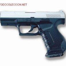 Militaria: PISTOLA AIR SOFT ACCION MANUAL BOLAS CALIBRE 6 MM.WALTHER P99 BICOLOR ¡¡¡OFERTA!!!. Lote 15023607
