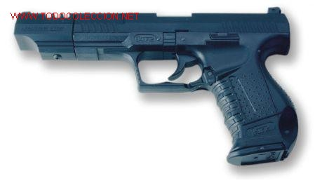 PISTOLA AIR SOFT ACCION MANUAL BOLAS CALIBRE 6 MM WALTHER P99 COMPENSADOR  JAMES BOND