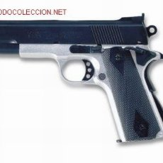 Militaria: PISTOLA AIR SOFT ACCION MANUAL BOLAS CALIBRE 6 MM.COLT 1911 BICOLOR ¡¡¡OFERTA!!!. Lote 2788024