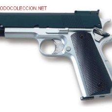 Militaria: PISTOLA AIR SOFT ACCION GAS BOLAS CALIBRE 6 MM.COLT 1911 BICOLOR ¡¡OFERTA!!. Lote 6824799