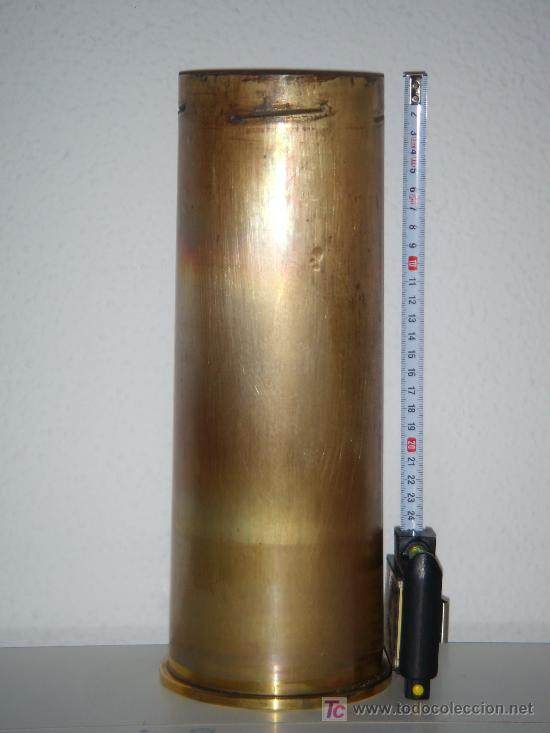 VAINA DE LATÓN DE OBÚS DE 105 MM. LIGHT GUN, INERTE. (Militar - Cartuchería y Munición)