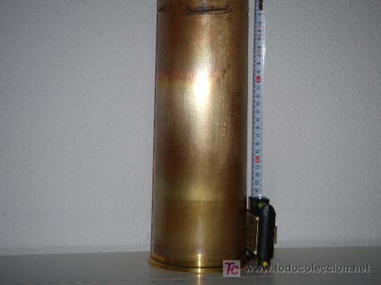 Militaria: VAINA DE LATÓN DE OBÚS DE 105 MM. LIGHT GUN, INERTE. - Foto 4 - 135762866