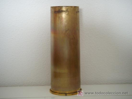 Militaria: VAINA DE LATÓN DE OBÚS DE 105 MM. LIGHT GUN, INERTE. - Foto 3 - 135762866
