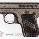 Militaria: PISTOLA DE CARTON PUBLICIDAD DE ARMAS PARA USO MILITAR O CAZA. BAYARD.12 X 8,50 CM.. Lote 25737970