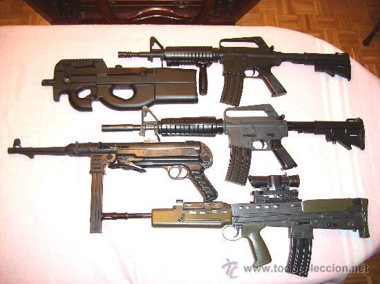 LOTE ARMAS AIRSOFT DE SEGUNDA MANO EN BUEN ESTADO + ENVIO INCLUIDO (Militar - Réplicas de Armas de Fuego y CO2 )