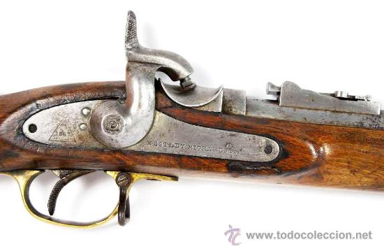 Militaria: Fusil Militar de Marina Inglesa Sistema Westley Richards & Co y Whitworth de 1867 - Foto 2 - 20292543