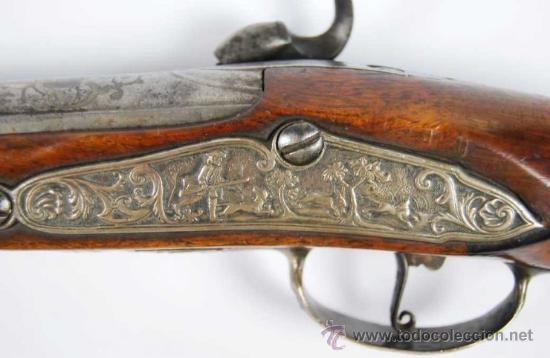 Militaria: Pareja de Pistolas francesas de avancarga con llaves de Percusión, guarniciones de plata, Siglo XIX - Foto 6 - 26594841