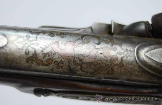 Militaria: Pareja de Pistolas francesas de avancarga con llaves de Percusión, guarniciones de plata, Siglo XIX - Foto 11 - 26594841