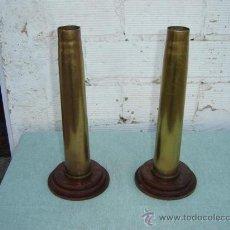 Militaria: 2 CASQUILLOS DE PROYACTIL. Lote 15781375