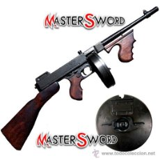 Militaria: METRALLETA THOMPSON MOD. GANSTERS - M1 1928. AUTOMATICA + CARGADOR. 86,5 CMS. Lote 118259340