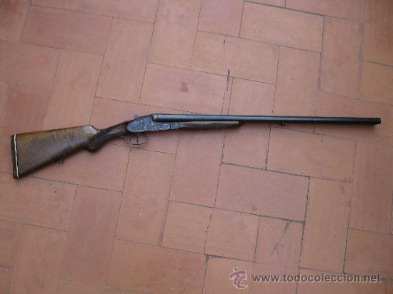 ESCOPETA PARALELA DE PLATINA LARGA C 12 GASPAR ARZIAGA - EIBAR NUEVA (Militar - Armas de Fuego en Uso)