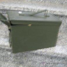 Militaria: CAJA METALICA DE MUNICION, NUEVA. Lote 26713642