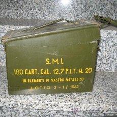 Militaria: CAJA DE MUNICIONES ITALIANA 1962 ALTURA 18 ANCHO 30X15.5 CM. BUEN ESTADO. Lote 26965126