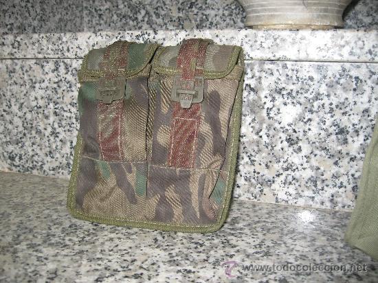 CARTUCHERA DE CAMUFLAJE. DOBLE (Militar - Cartuchería y Munición)